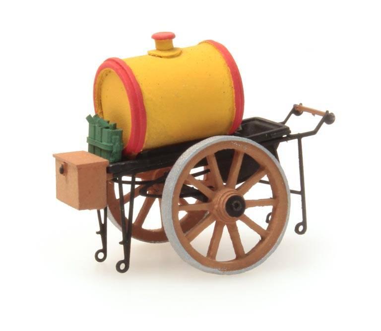 Oil pushcart yellow