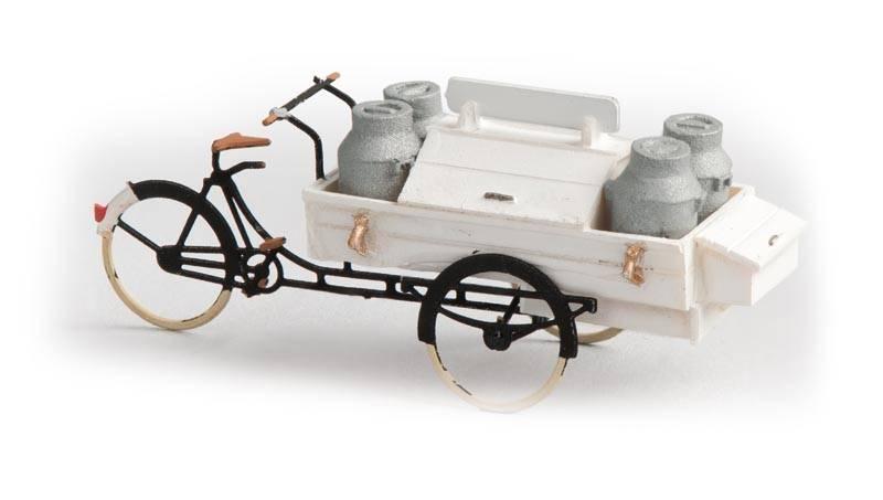 Milchlieferrrad, 1:87, Fertigmodell aus Resin, lackiert