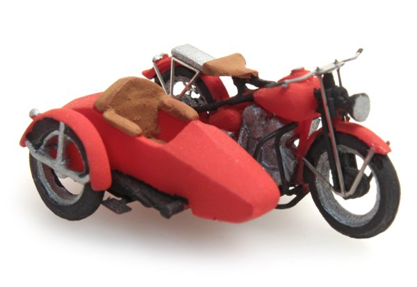 US Liberator motor red with sidecar