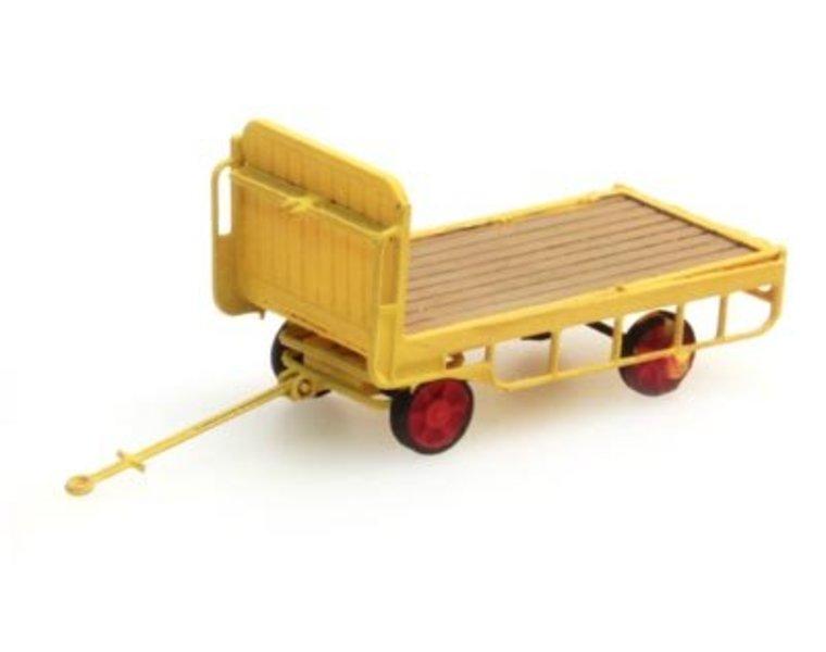 Anhänger für Bahnsteigkarre gelb