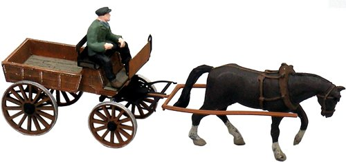 German farmer's market wagon