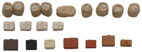 Assorted cargo for railroad transport