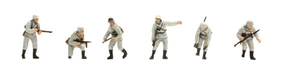 Set 1 Deutsche Infanterie, winter, 6 figuren