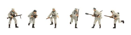 Set 2 Deutsche Infanterie, Winter (6 figures)