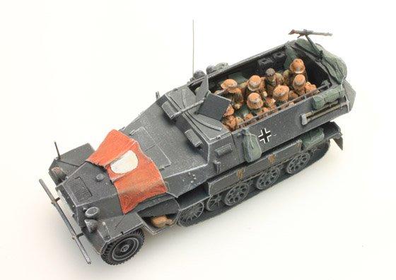 Bemanning Sd.Kfz 251/1B, Camo, 10 figuren