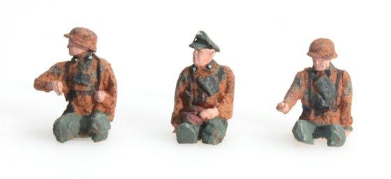 Besatzung Kübelwagen Tarnung 3 Figuren