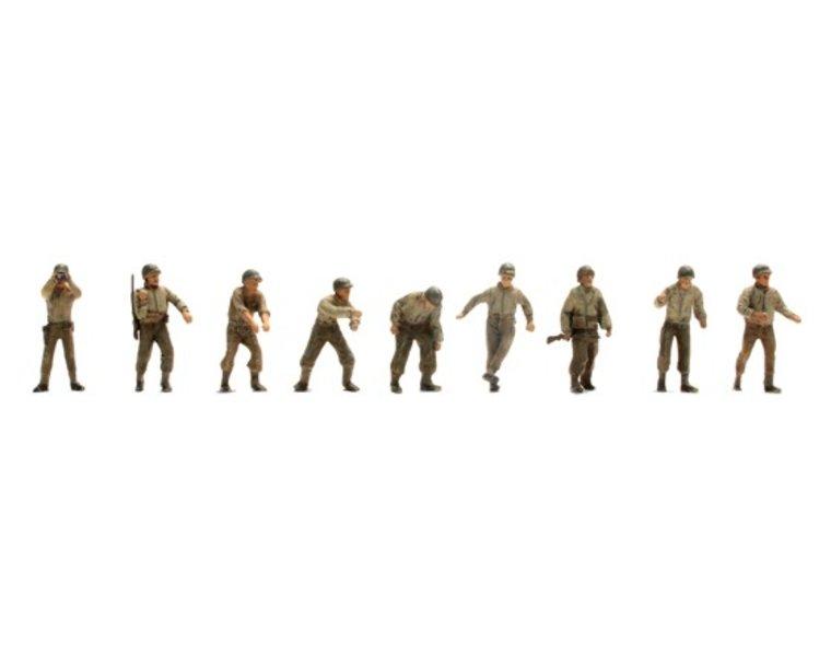 US Army Artillery crew M12, 9 figuren