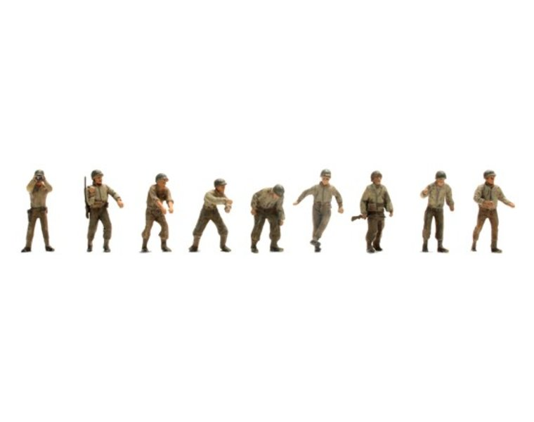 US Army Artillery crew M12, 9 figures