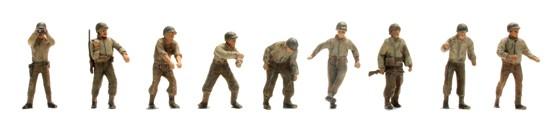 US Army Artillery crew M12, 9 figures