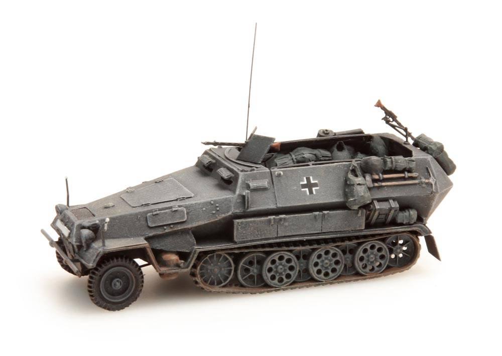Sd.Kfz 251/1B, grijs, 1:87 kant en klaar resin, geverfd