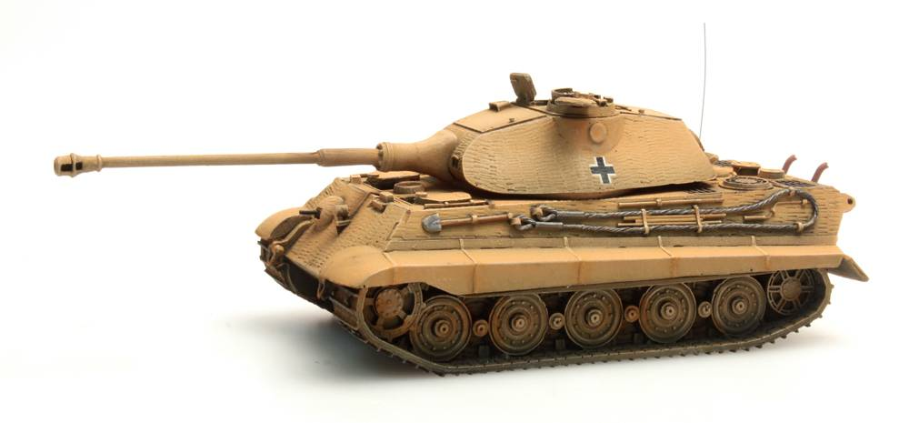 Tiger II Porsche, Zimmerit, dunkelgelb, 1:87 ready-made