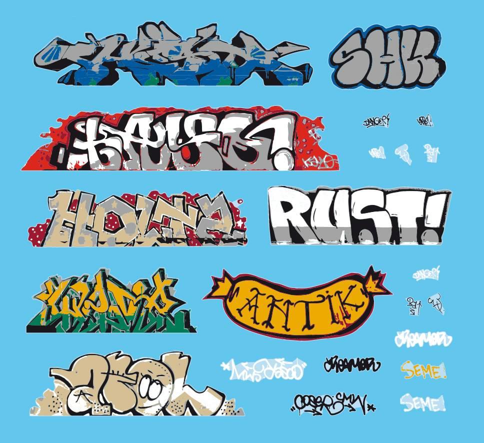 Graffiti,Wasserschiebefolie