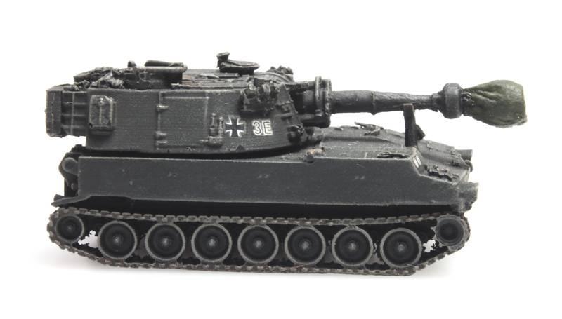 Bundeswehr M109G gelboliv Eisenbahntransport