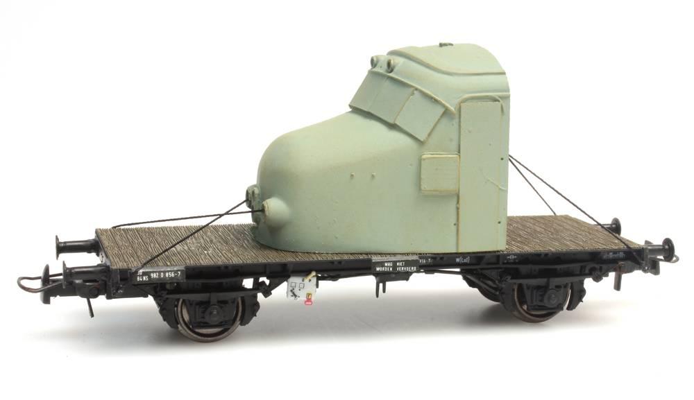 "Dutch 2-axle flat car NS 30 84 982 0 856-7 ""Hondekop"""