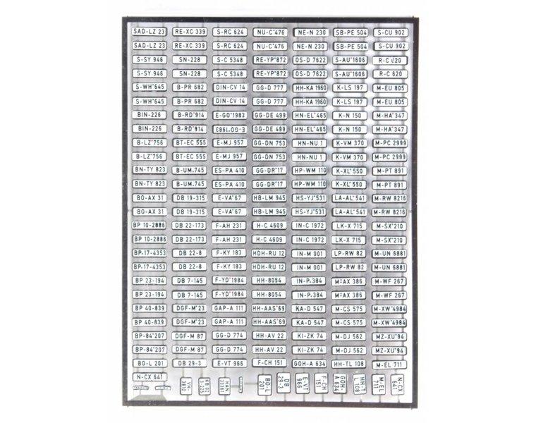 Duitse autonummerborden Set A, 1956-1994