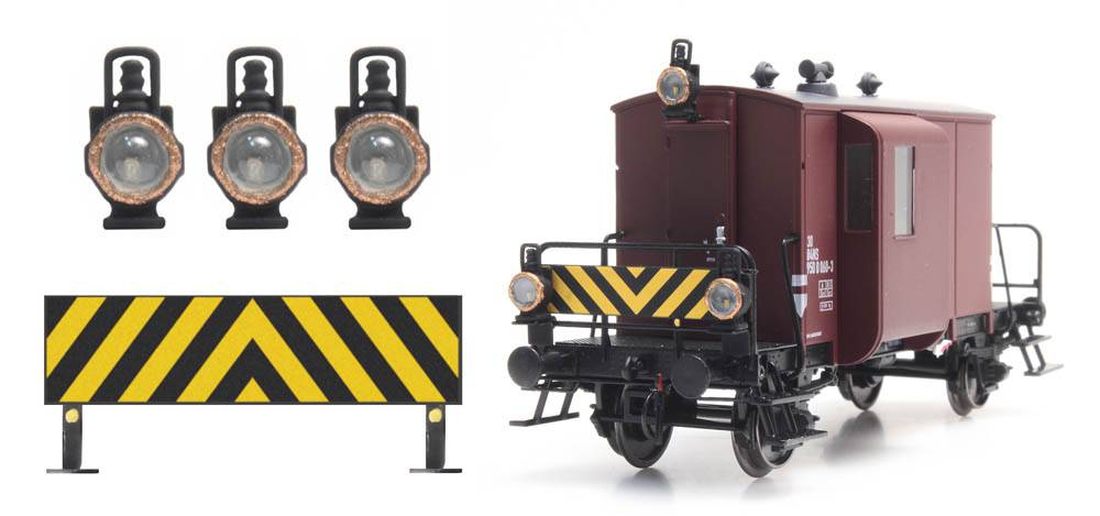NS warning sign+ 3 oil lamps for DG