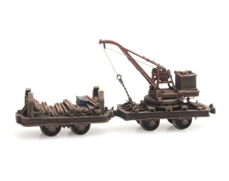 Narrow gauge wagon with crane