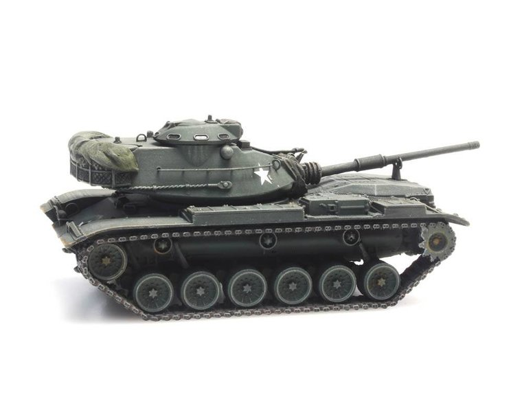 M60A1 olive green train load