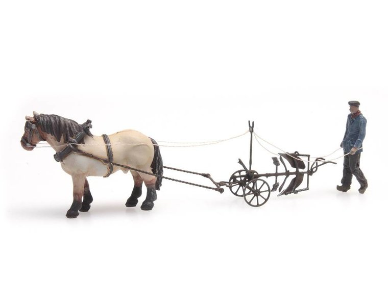 Horse and plough