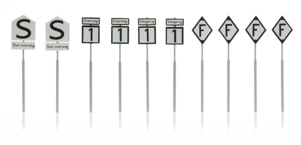 NS-borden: waarschuwing overweg weegbrug 10 stuks