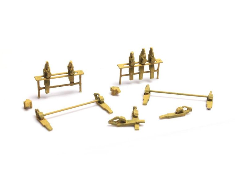 Railroad wheel chock stand and wheel chocks