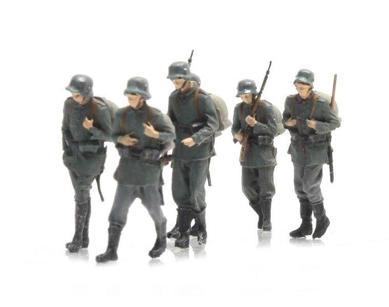 Marcherende infanterie Deutsches Heer 6 figuren
