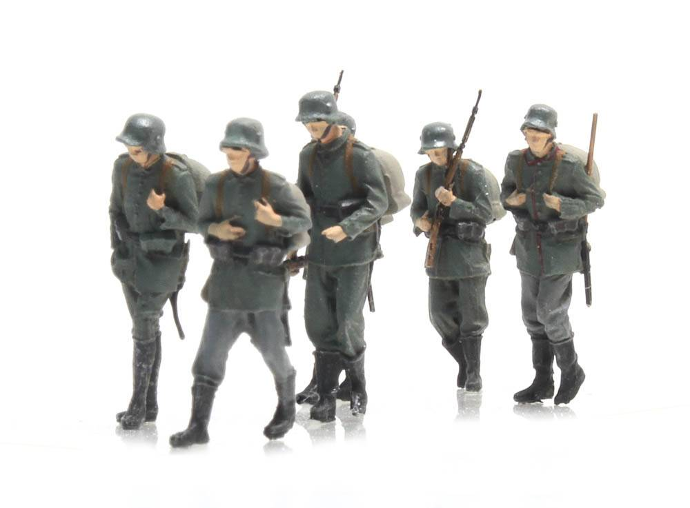 Marcherende Duitse infanterie 6 figuren