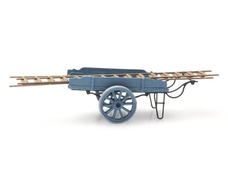 Ladderwagen blauw