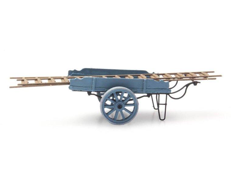 Leiterwagen blau