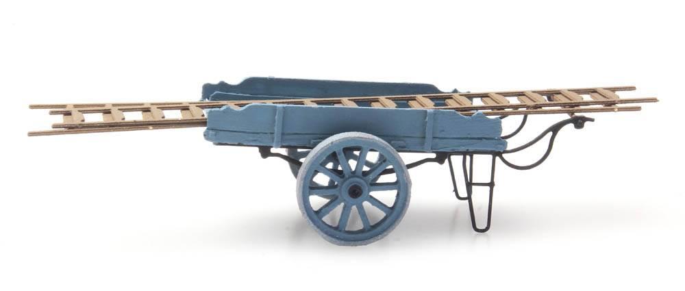 Ladder pushcart blue