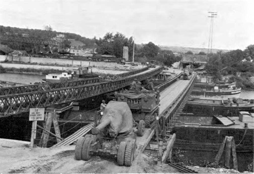 Het bouwen van een Baileybrug