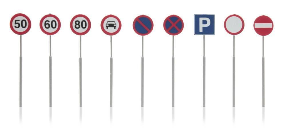 Verkeersborden: snelheid, parkeerverbod