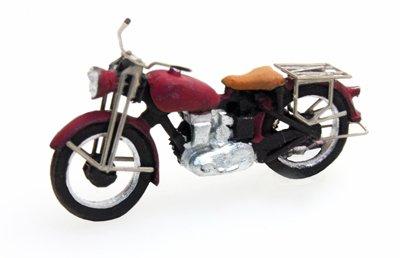 Motor Triumph civiel, rood, 1:87 kant en klaar resin, geverfd