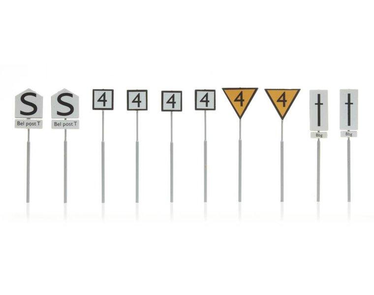 Dutch railway signs yard, 10 pcs