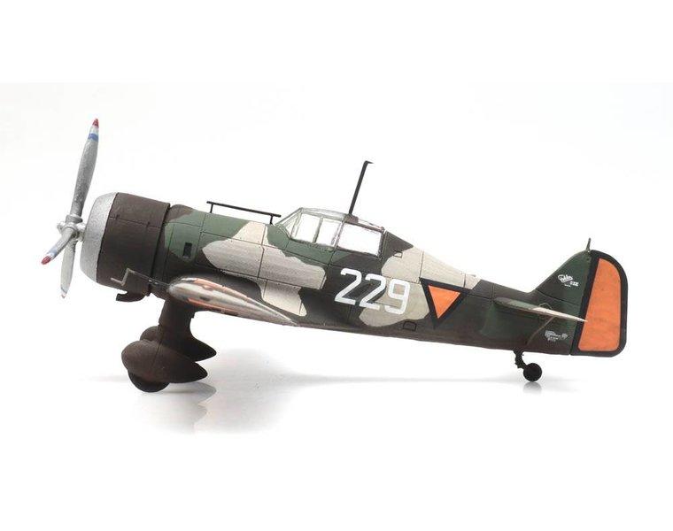 Fokker D.XXI 229 roundel orange square