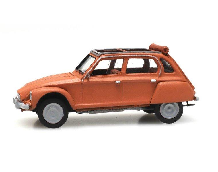 Citroën Dyane oranje open dak