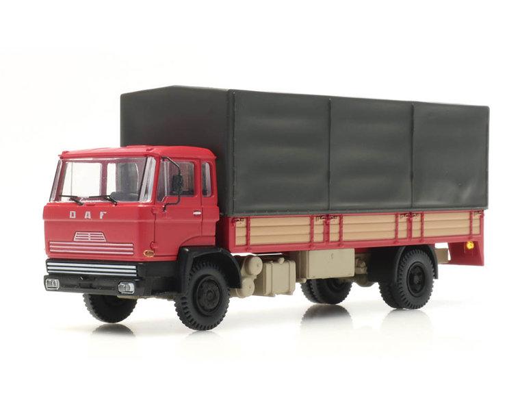 DAF kantelcabine 1970, open bak, huif, rood