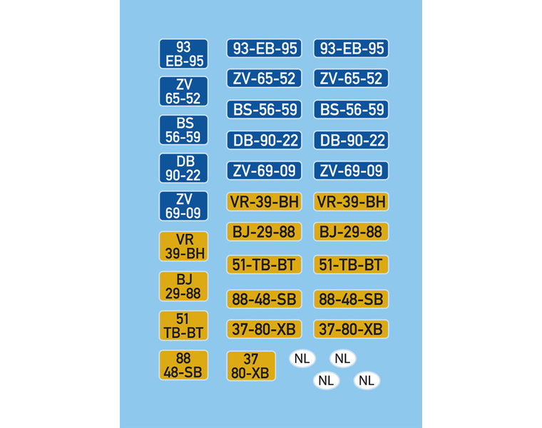 DAF Kipp-Fahrerhaus Kennzeichenschilder