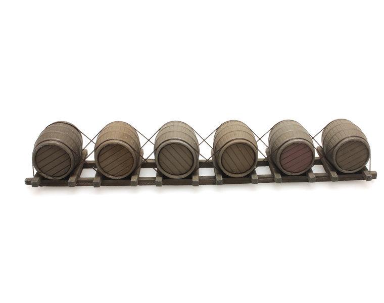 Cargo wooden barrels