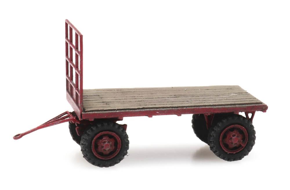 Platte landbouwwagen