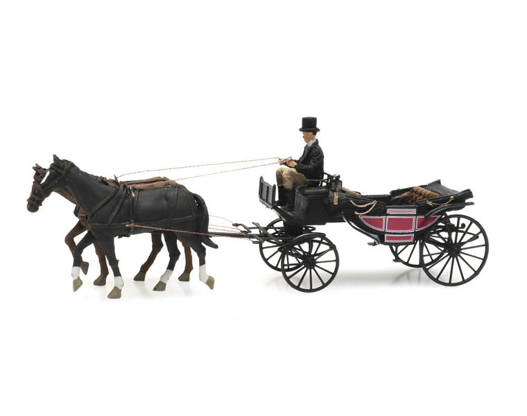 Landau carriage open
