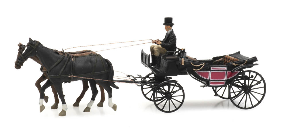 Landau carriage open