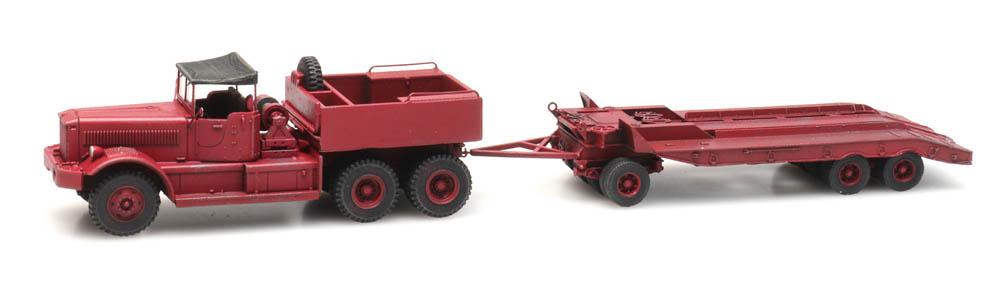 Diamond T truck with trailer, civilian