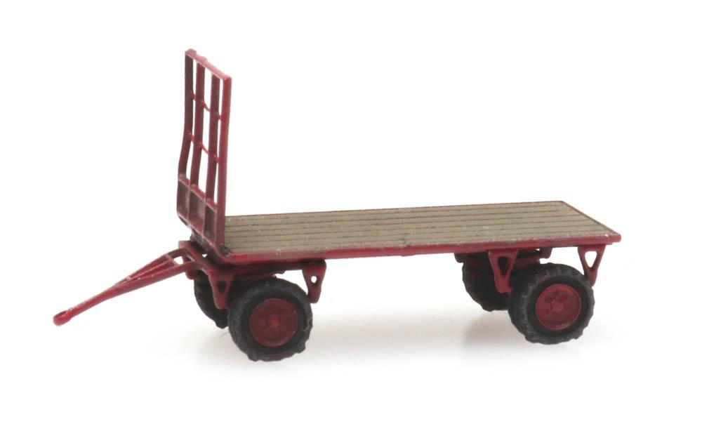 Flat bed farm wagon