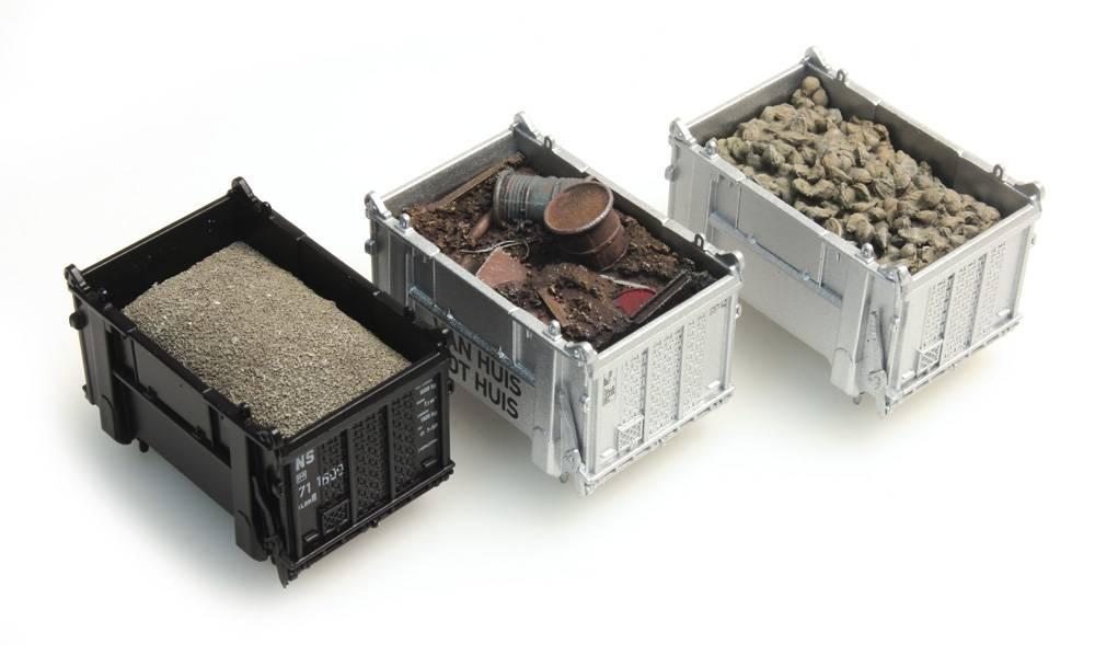 Lading DAF-container: bieten, schroot, zand