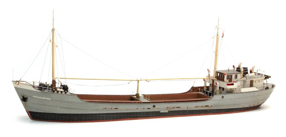 Coastal freighter, 1:87 resin kit, unpainted