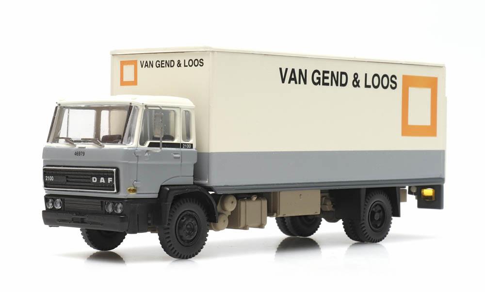 DAF Kipp-Fahrerhaus Koffer-LKW Kab 1982 vG&L