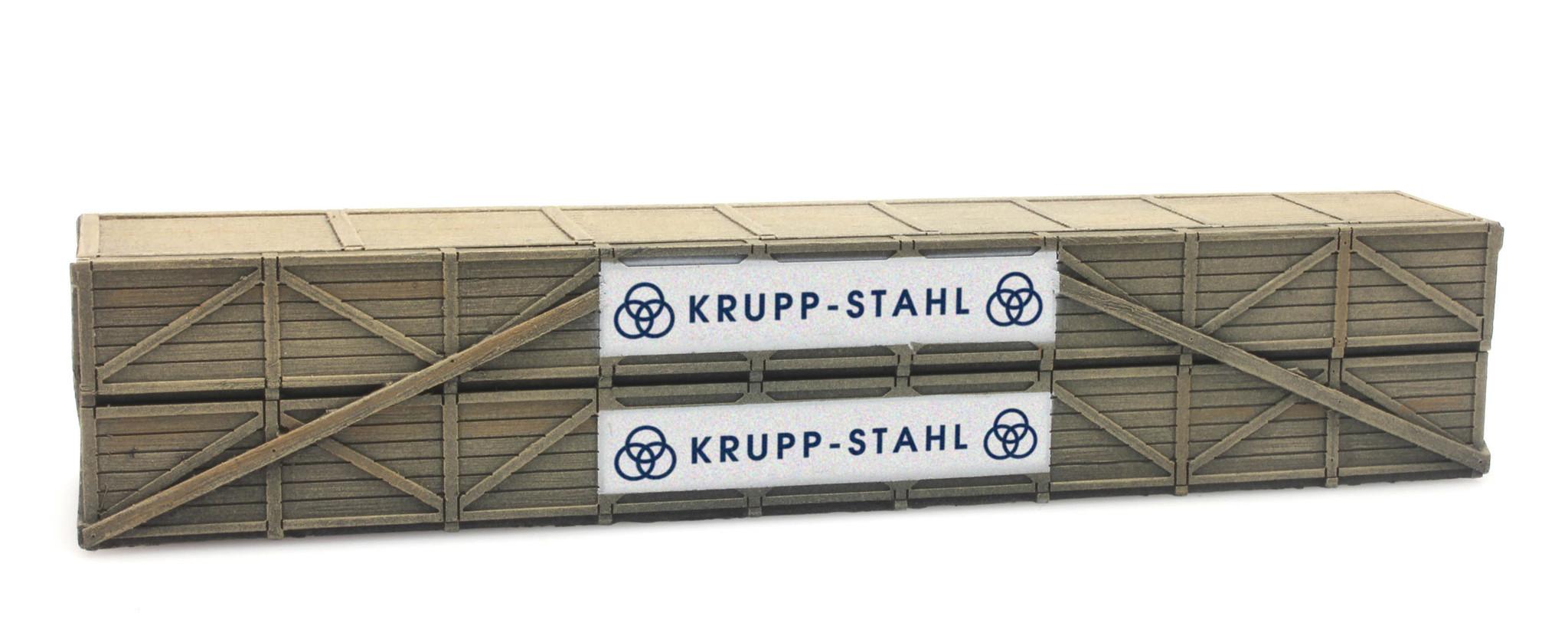 Ladung: Transportkiste Krupp-Stahl