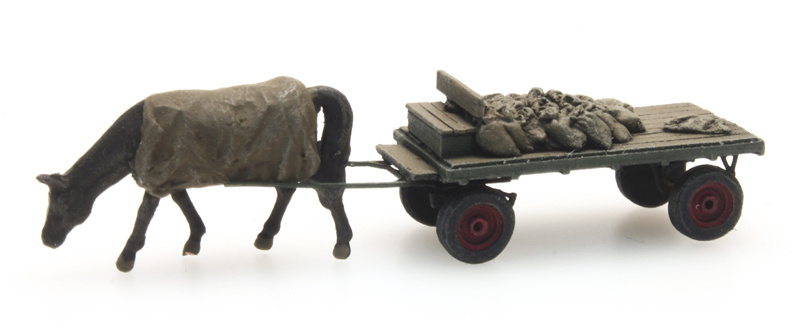 Coal cart with horse