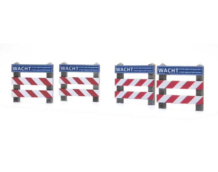 Dutch warning sign railroad crossing